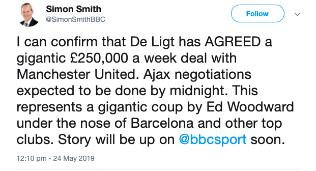 Xác nhận! Man Utd đạt thỏa thuận đón De Ligt, lộ mức lương khổng lồ - Bóng Đá