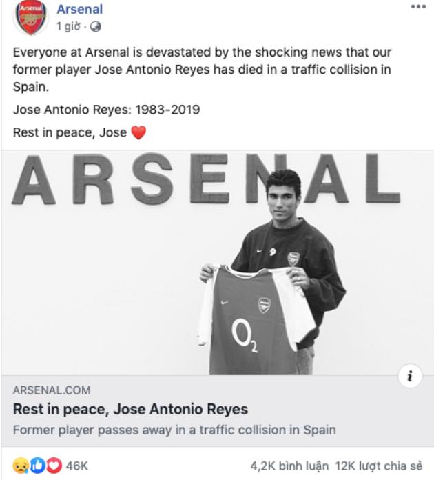 Cả thế giới tiếc thương sự ra đi đột ngột của Antonio Reyes - Bóng Đá