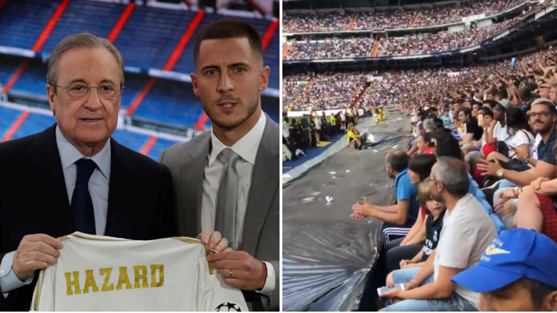 Real Madrid Fans Chant For Kylian Mbappe At Eden Hazard's Official Unveiling - Bóng Đá