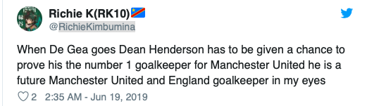 Some Manchester United fans call for David De Gea to be sold after Dean Henderson's incredible England Under-21 performance - Bóng Đá