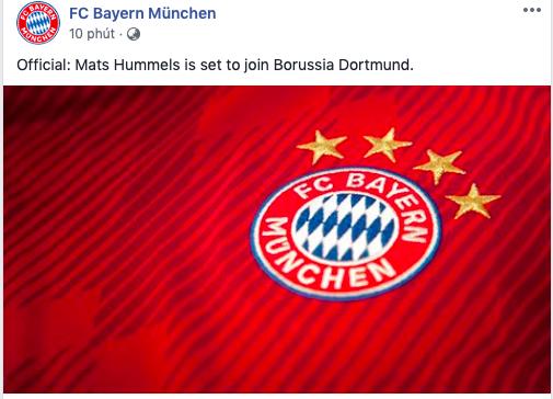 Official: Mats Hummels is set to join Borussia Dortmund. - Bóng Đá