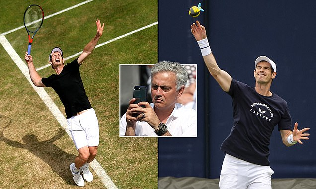 'I shed tears when he won Wimbledon': Jose Mourinho casts eye over Andy Murray's training session - Bóng Đá