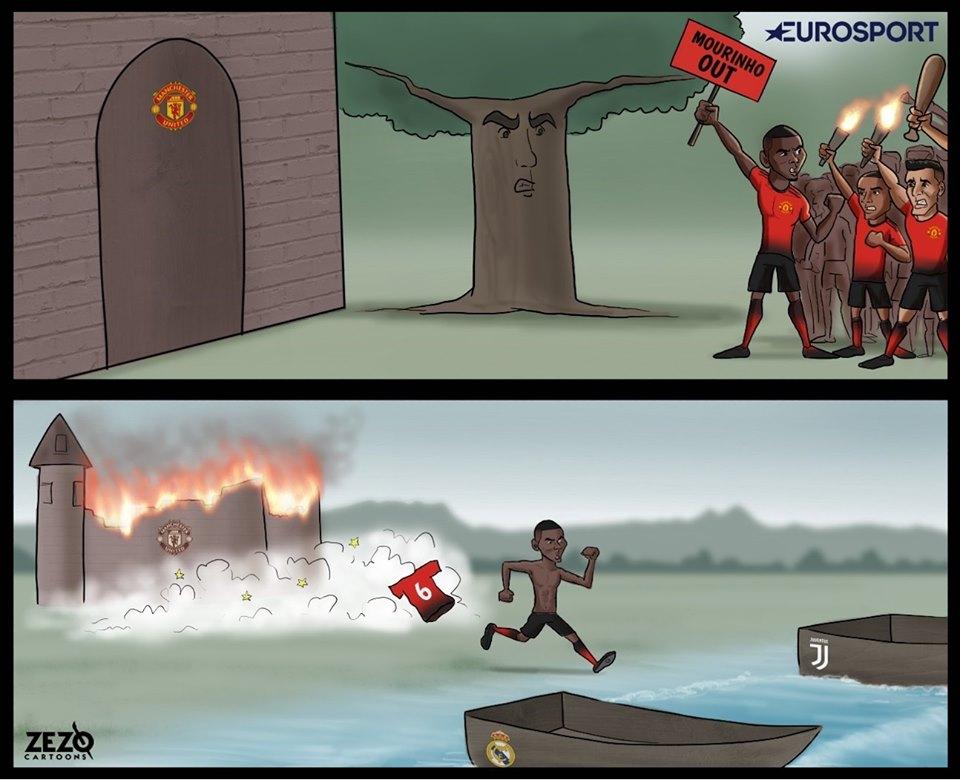 Biếm họa: Pogba hoàn tất việc phá hoại Man Utd - Bóng Đá