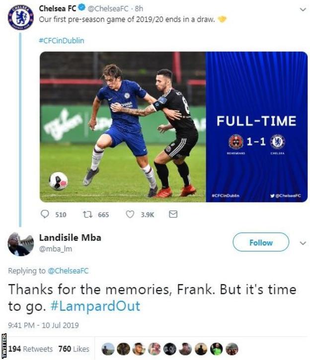 Frank Lampard: Do Chelsea fans really want #LampardOut after pre-season game? - Bóng Đá