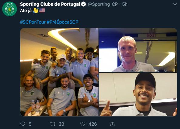 Ảnh Bruno Fernandes đáp chuyến bay sang Mỹ - Bóng Đá