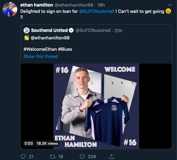 Ethan Hamilton signs on loan from Manchester United - Bóng Đá