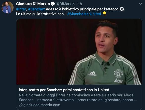 Alexis Sanchez on brink of leaving Manchester United after agreeing deal to join Inter Milan - Bóng Đá