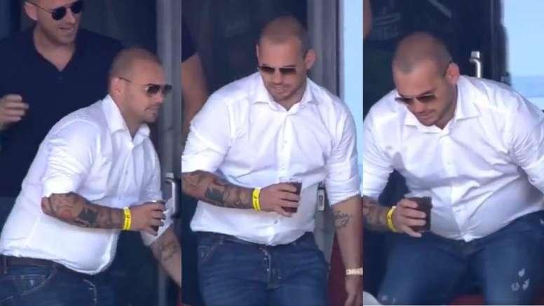 CHOÁNG! Giải nghệ 2 tuần, Sneijder béo ục ịch không ai nhận ra - Bóng Đá