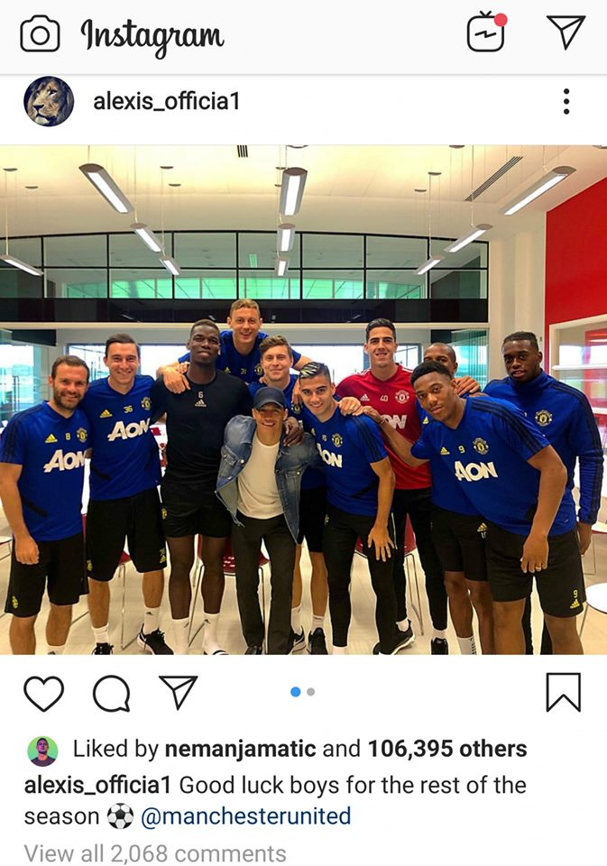 Sanchez said goodbyes to Man Utd team: Good luck boys for the rest of the season - Bóng Đá