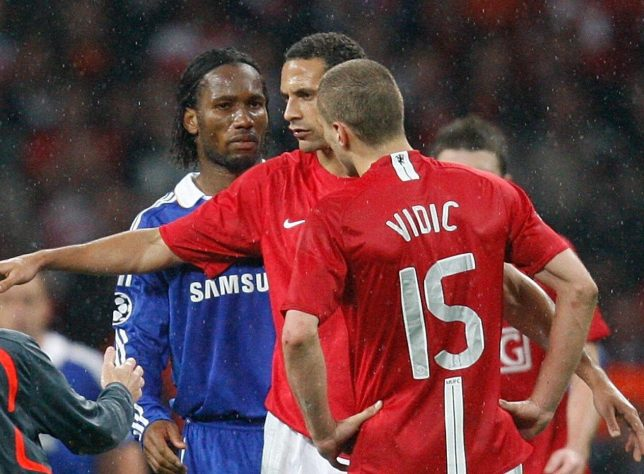 Nemanja Vidic reveals Chelsea striker wanted to punch him in Champions League final - Bóng Đá