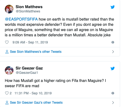 Manchester United fans in meltdown as Shkodran Mustafi is rated higher than Harry Maguire on FIFA 20 - Bóng Đá