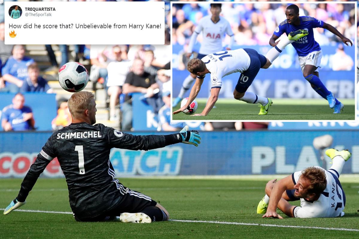 Hài hước! Harry Kane ra sân đi bóng và... vấp phải bàn thắng - Bóng Đá