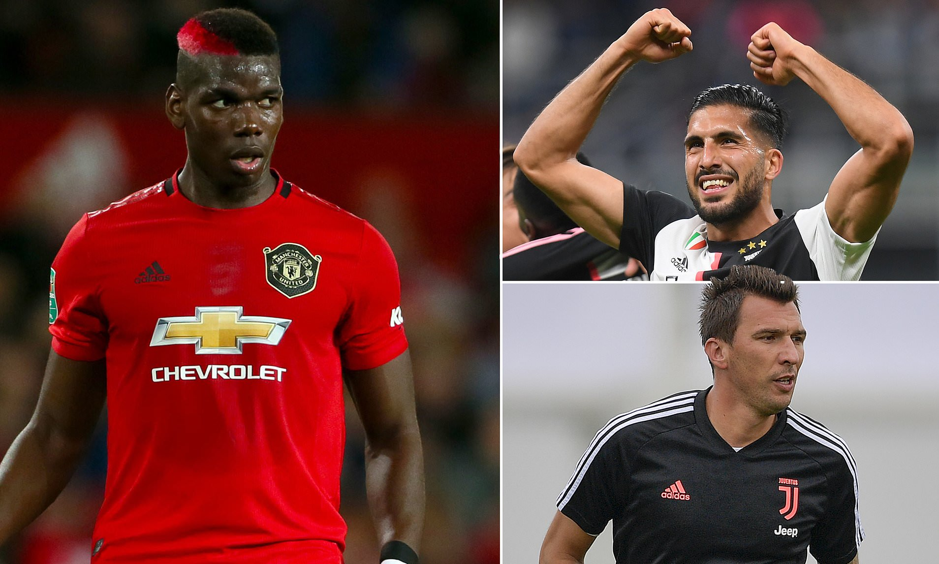 Juventus 'plan to offer Manchester United Emre Can and Mario Mandzukic' in exchange for Paul Pogba - Bóng Đá