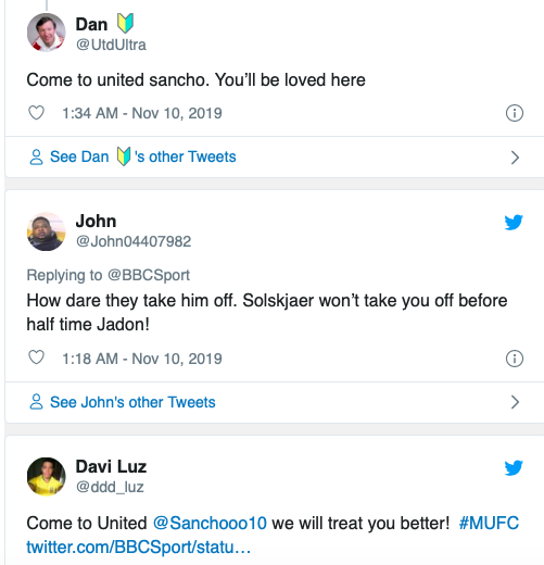 Manchester United fans send message to Jadon Sancho after early substitution vs Bayern Munich - Bóng Đá