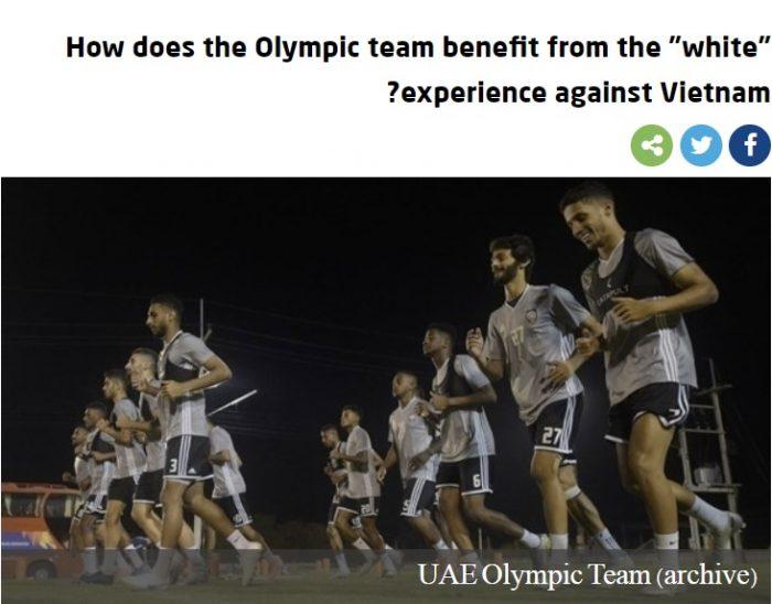 Báo UAE tuyên bố: