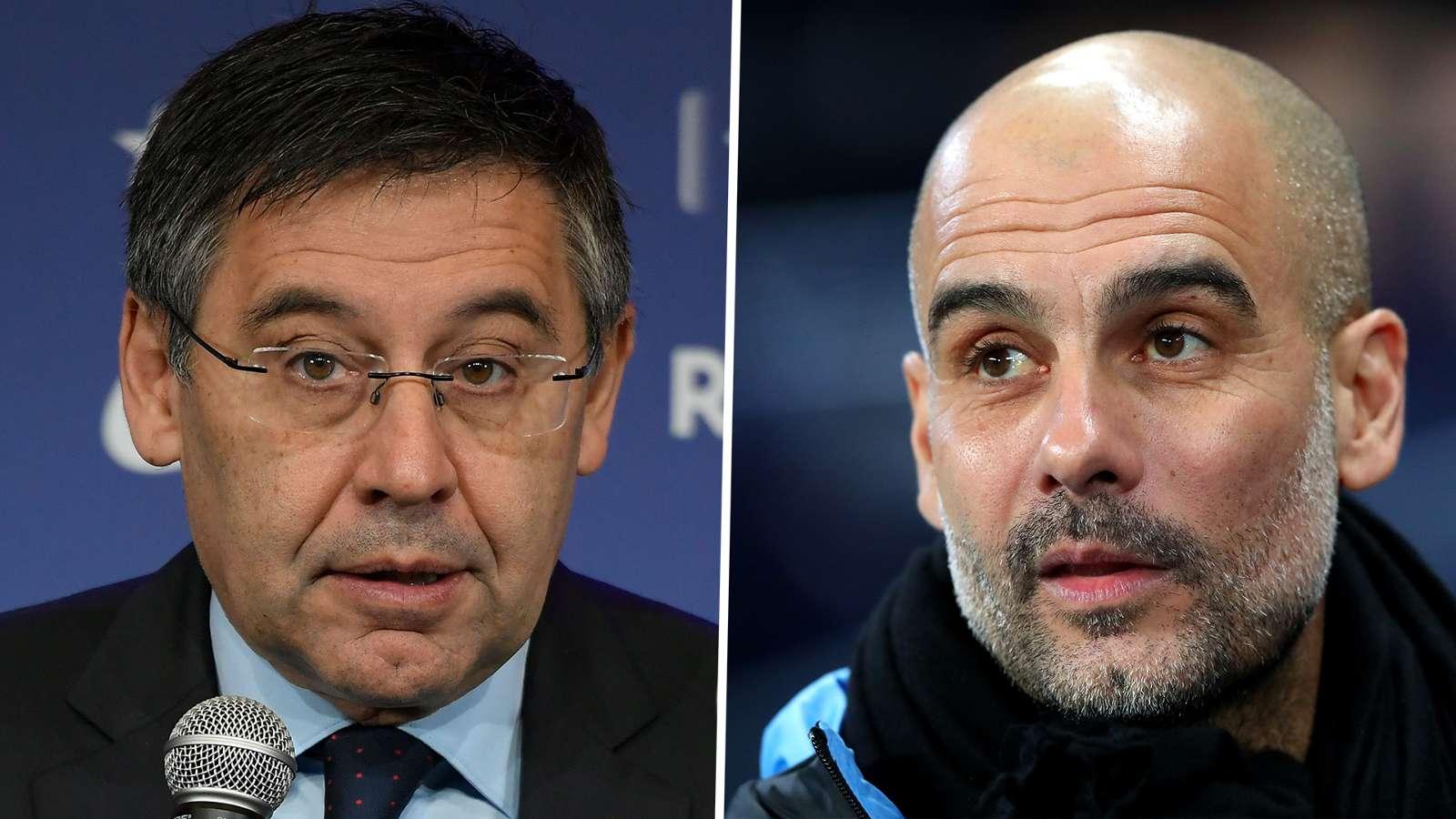 'Don't talk too loud, Barcelona!' - Guardiola bites back after Bartomeu's FFP comments - Bóng Đá