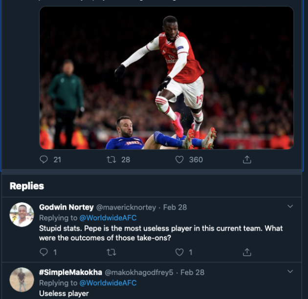 Arsenal: Fans lambaste Nicolas Pepe after performance in loss to Olympiakos - Bóng Đá