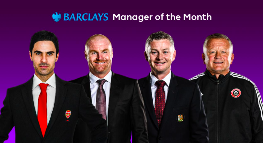 4 nominees for the Barclays Manager of the Month award.  - Bóng Đá
