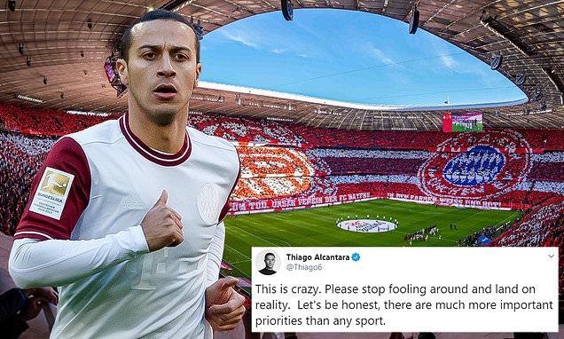 Bayern Munich's Thiago Alcantara slams the DFL for not suspending games despite coronavirus - Bóng Đá