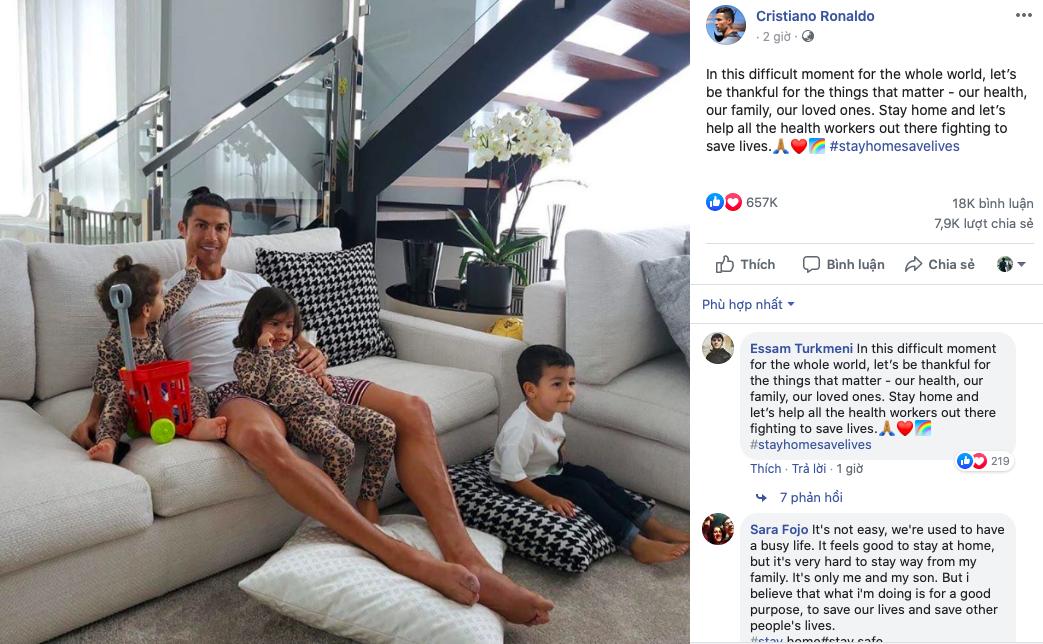 Ronaldo đưa ra thông điệp ý nghĩa giữa bão corona - Bóng Đá