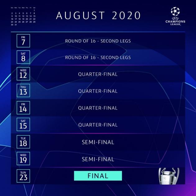 Official: UEFA sets date for Champions League return - Bóng Đá
