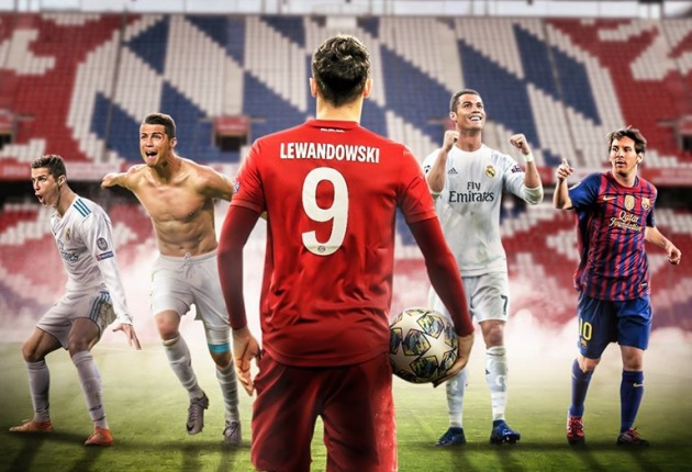 Robert Lewandowski is the first player not named Ronaldo or Messi to hit 13+ goals in a single - Bóng Đá
