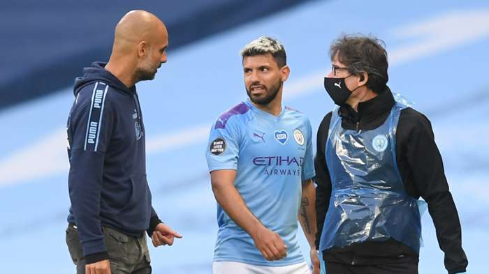 Injured Aguero to miss Manchester City's Champions League quarter final against Lyon - Bóng Đá