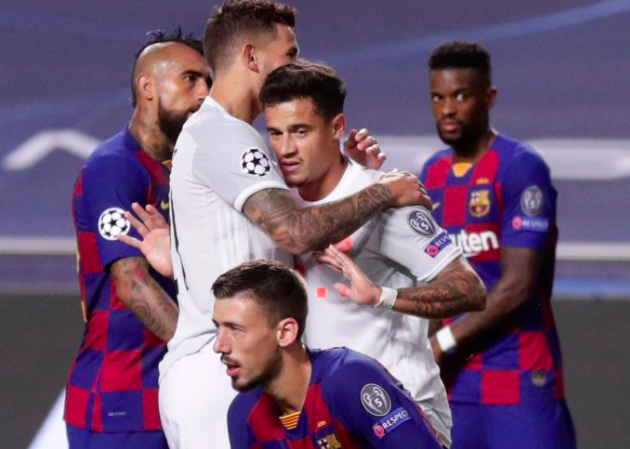 Former Liverpool star Philippe Coutinho refuses to celebrate after scoring twice in Bayern Munich's Champions League destruction of Barcelona - Bóng Đá
