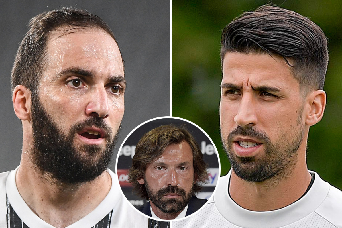 Gonzalo Higuain and Sami Khedira 'have Juventus contracts TERMINATED by new manager Andrea Pirlo' - Bóng Đá