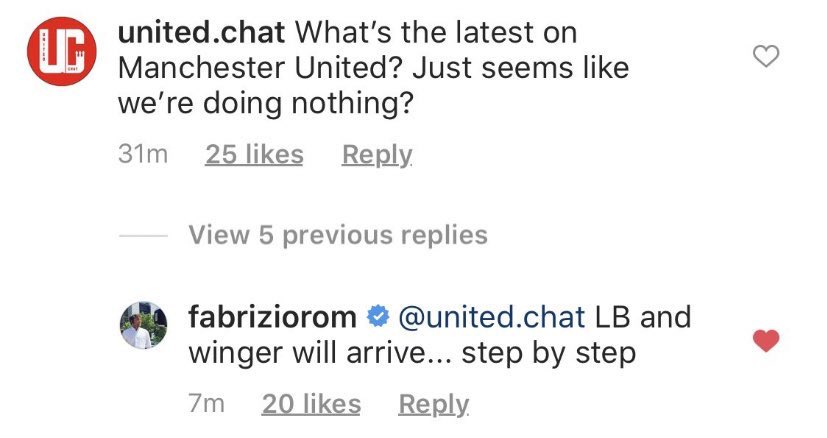 A left-back and a winger will arrive at #mufc, step by step #mulive [ @FabrizioRomano ] - Bóng Đá