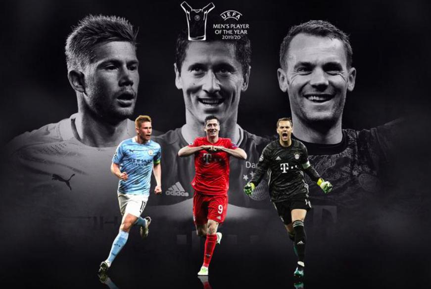 UEFA Men's Player of the Year: De Bruyne, Lewandowski or Neuer - Bóng Đá