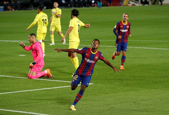 Barcelona 4-0 Villarreal: Ansu Fati denied Man of the Match award 'because of his age' - Bóng Đá