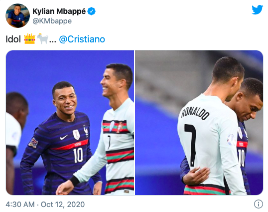 Kylian Mbappe sends honest message to Cristiano Ronaldo after Nations League meeting - Bóng Đá