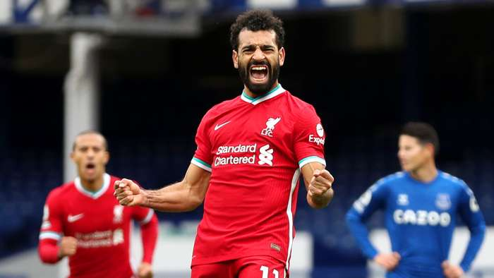 Salah scores 100th goal for Liverpool with strike against Everton in Merseyside derby - Bóng Đá