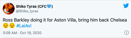 'Terminate his loan!' - Chelsea fans respond as Ross Barkley nets late winner for Aston Villa - Bóng Đá