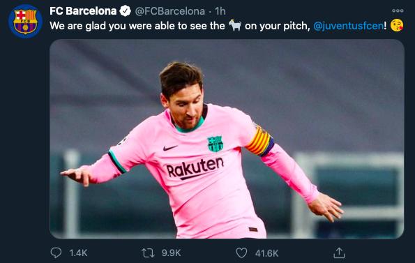 Barcelona take swipe at Cristiano Ronaldo with brutal Lionel Messi jibe - Bóng Đá