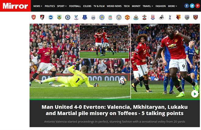 Đánh bại Everton 4-0, báo Anh đưa Quỷ đỏ lên tận mây xanh – Arsenal Info