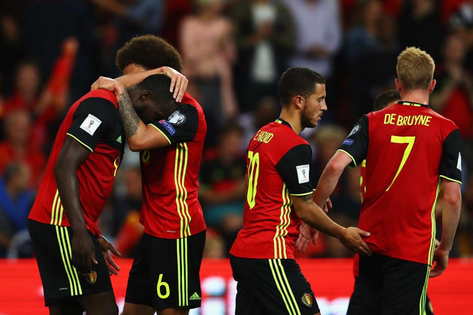 Kết quả hình ảnh cho ĐT Bỉ luôn thi đấu trong thế cửa trên