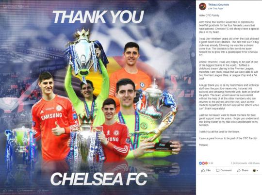 Dứt áo sang Real, Courtois phũ phàng với fan Chelsea - Bóng Đá