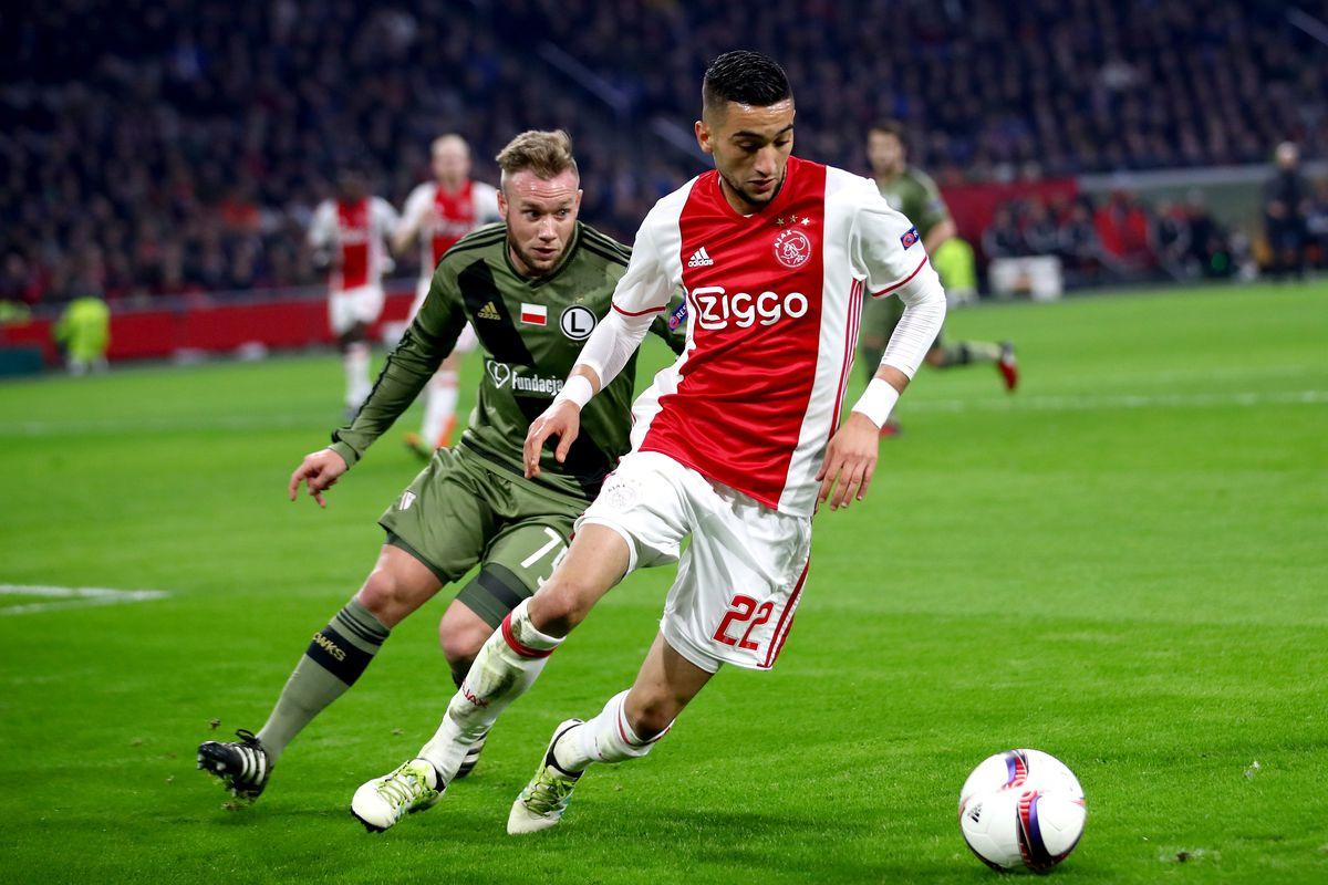 Nôn nóng chuyển nhượng, người đại diện của sao Ajax gọi điện đến Arsenal (Hakim Ziyech) - Bóng Đá