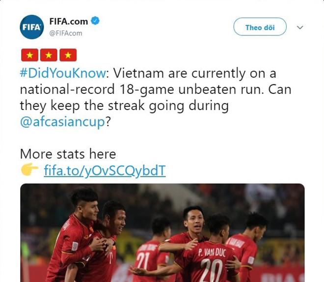 FIFA thán phục kỷ lục