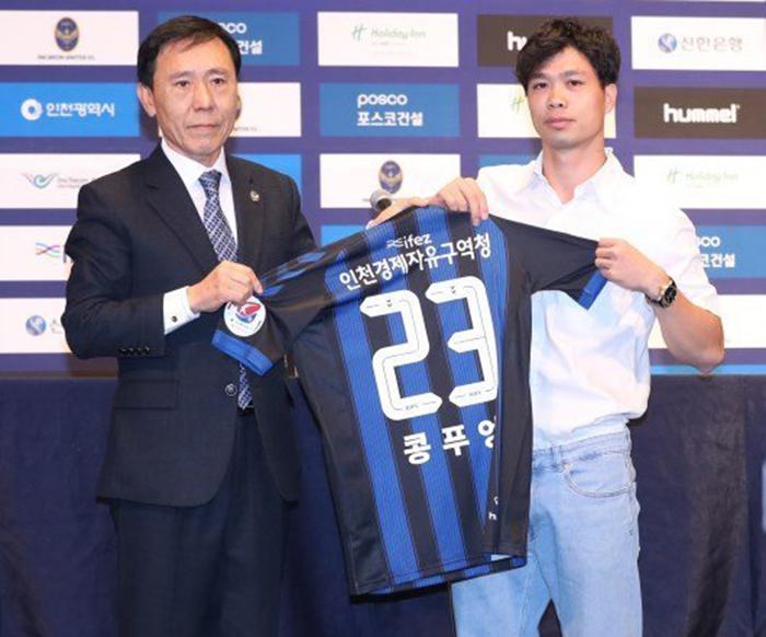 CHÍNH THỨC: Công Phượng ra mắt CLB Incheon United - Bóng Đá