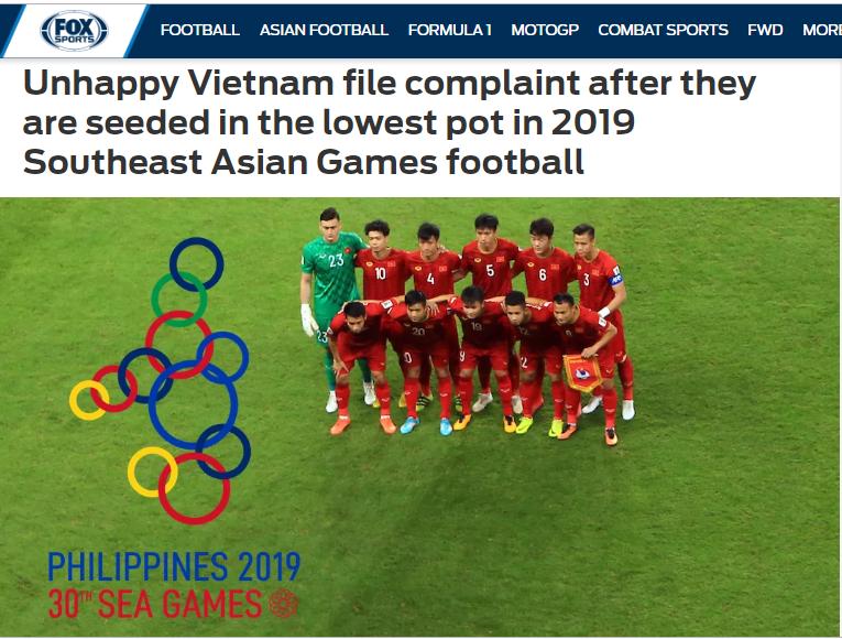 Báo châu Á: Việt Nam có cơ sở để khiếu nại cách chia hạt giống SEA Games 30 - Bóng Đá