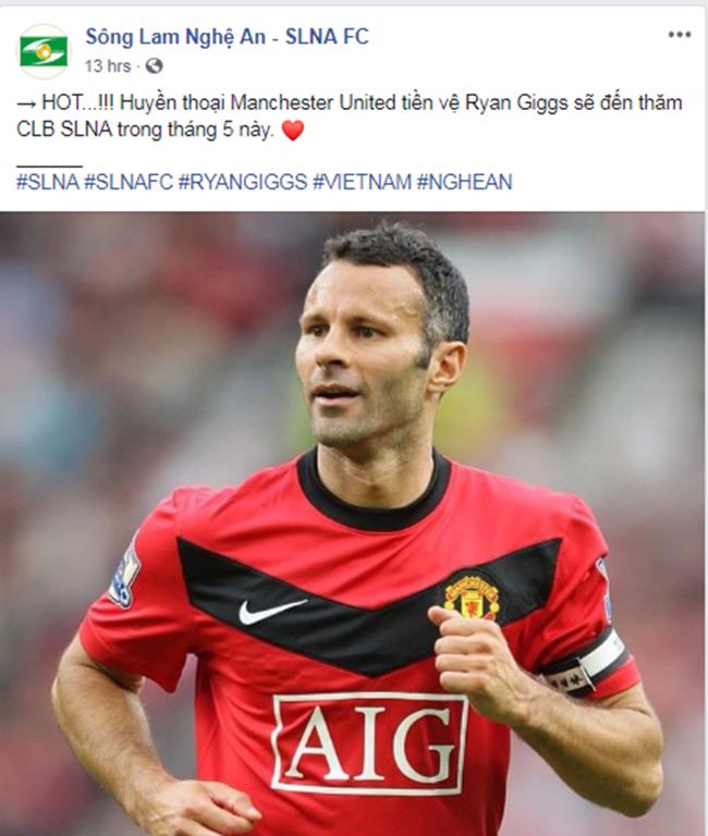 NÓNG: Huyền thoại Man Utd Ryan Giggs sắp trở lại Việt Nam, ghé thăm SLNA - Bóng Đá