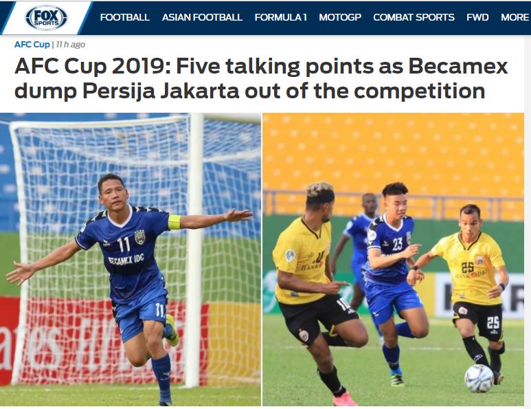 Báo châu Á: B.Bình Dương đã chấm dứt giấc mộng của Persija Jakarta - Bóng Đá
