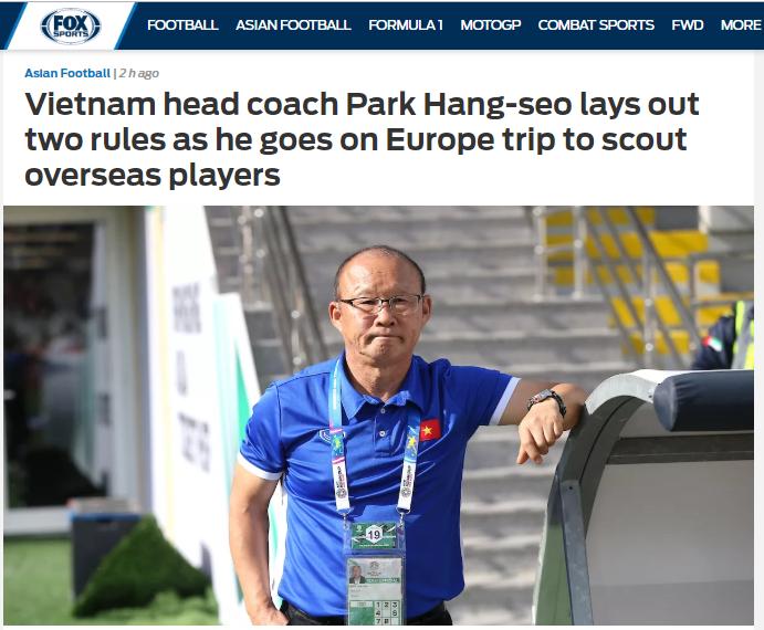 Báo châu Á: Thầy Park chỉ ra 2 nguyên tắc trước khi trao cơ hội cho các sao Việt kiều (Fox Sports Asia) - Bóng Đá