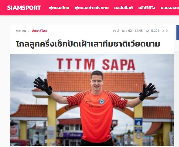 Báo Thái Lan: Thủ môn Việt kiều vẫn kiên định với giấc mơ ĐT Việt Nam - Bóng Đá