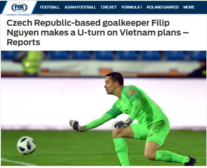 Báo châu Á: Xuất sắc ở Czech nhưng Filip Nguyễn vẫn chỉ hướng về ĐT Việt Nam - Bóng Đá
