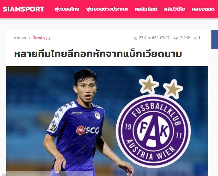 Báo Thái: Từ Champions League, King's Cup, Văn Hậu tiếp tục gieo sầu cho người Thái (Siamsport) - Bóng Đá