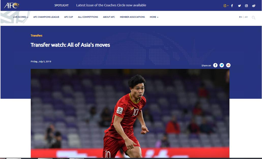 Trang chủ AFC nói 1 điều về thương vụ Công Phượng sang Sint-Truidense thi đấu - Bóng Đá